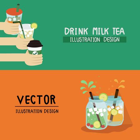 ice tea: card design of tea Illustration