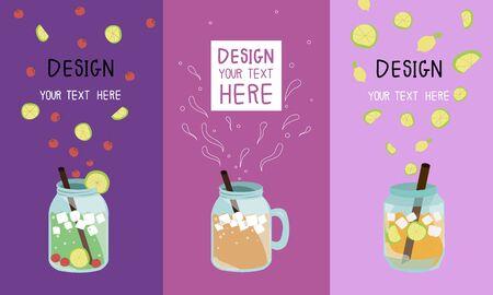 ice tea: card design of lemon tea