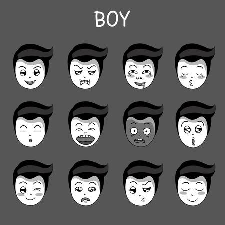 feeling good: dark emotion boy Illustration