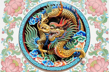 chinese dragon: Ancient Chinese Dragon Pattern