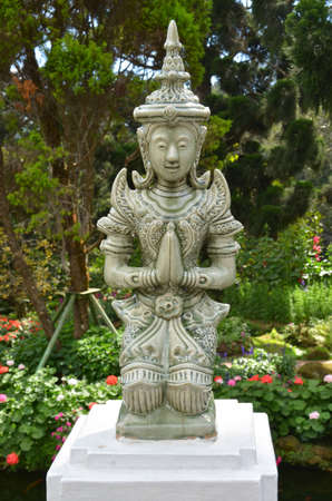 envisage: Guardian deity on garden in Bhubung palace  Stock Photo