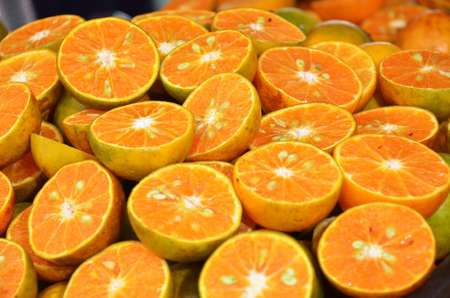 plentifully: half orange plie Stock Photo