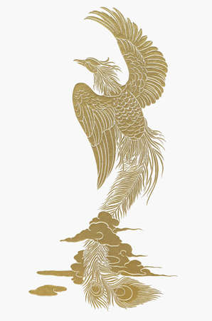 magnific: gold swan on sky
