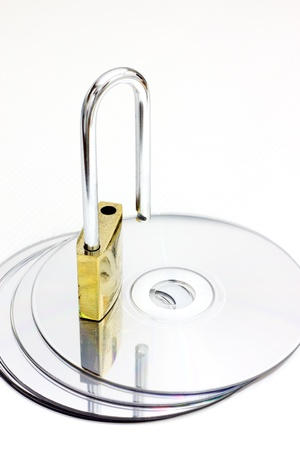 Computer disk and lock Stock Photo - 13000108