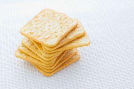 crackers: Round crakers Stock Photo