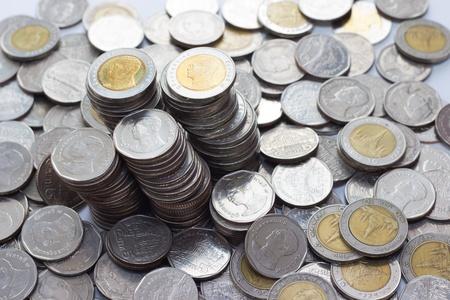baht: Thai Baht Coins  Stock Photo