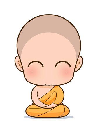 buddha tranquil: Buddhist Monk cartoon