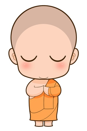 Buddhist Monk cartoon photo
