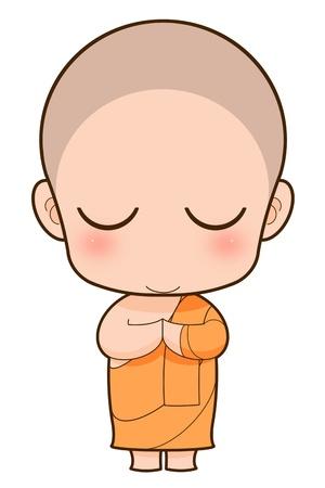moine: Moine bouddhiste de bande dessinée