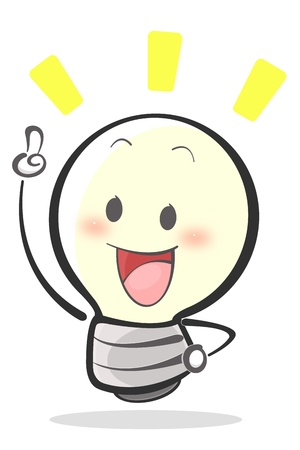 new thinking: Illustration Of Idea Lamp Stock Photo