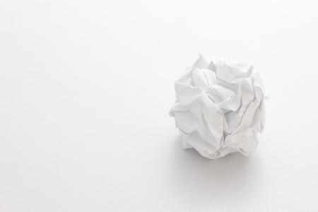 rumple: Crumpled paper ball