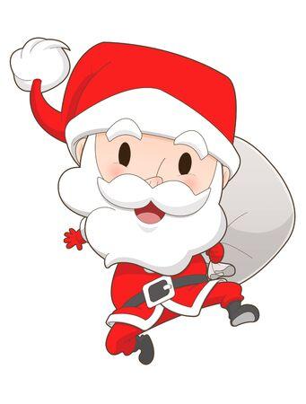 white bacjground: Santa claus on white background Stock Photo
