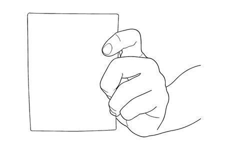 Hand holding Bill paper Stock Vector - 16882643
