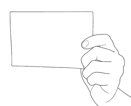 Hand holding Bill paper Stock Vector - 16882642
