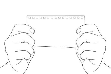 Hand holding Bill paper Stock Vector - 16882644
