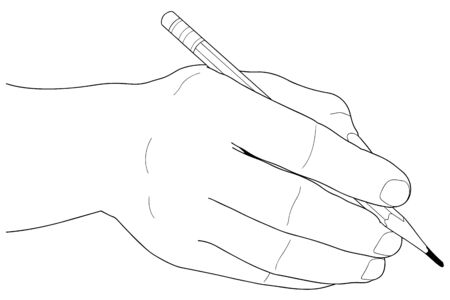 Hands with pencil Vector