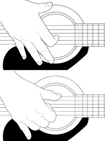 How to play guitar Stock Vector - 16934879