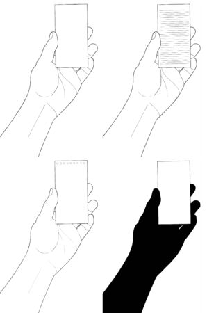 hand holding paper: Hand holding Bill paper