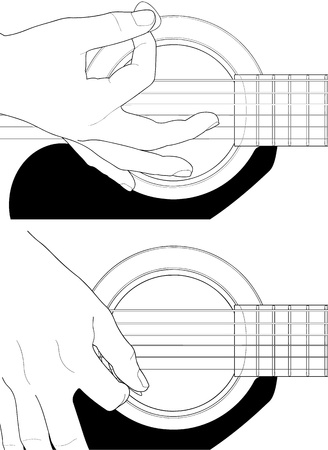 How to play guitar Stock Vector - 16934881