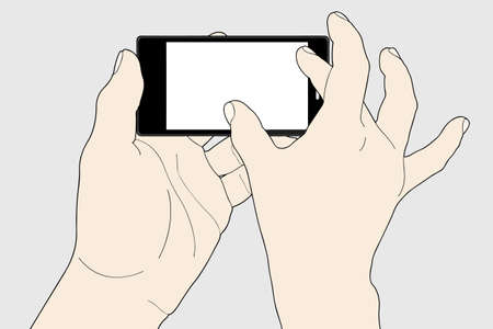 input device: Phone touch gestures  Touch the screen