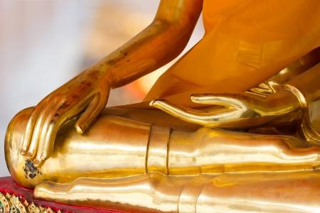idolatry: Buddha Golden Statue. Buddha Statue in Thailand Stock Photo