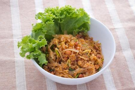 nam: Rice balls and sour pork salad recipe (nam khao with som moo)