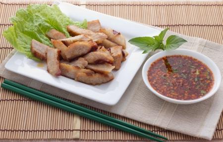 southern thailand: Roast pork Thai style Stock Photo