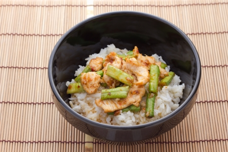 beef curry: Stir fried chicken and curry paste