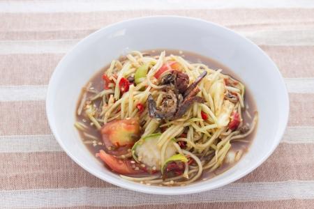 somtum: Green Papaya Salad ,Somtum Thai Food