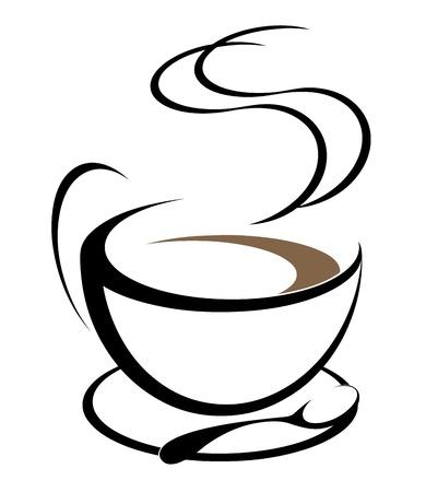 steaming coffee: Cofee illustration Illustration