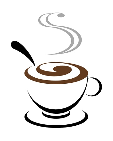 steaming: Abstract vector illustration for design  cofee illustration