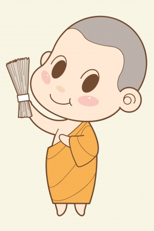 cleric: Buddhist Monk cartoon