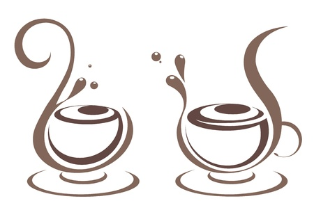 chocolate swirl: Cofee illustration Illustration