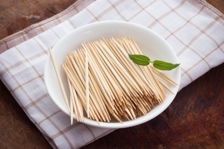 Toothpicks on Cup Stock Photo - 20409113