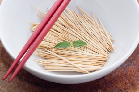 blanking: Toothpicks in dish