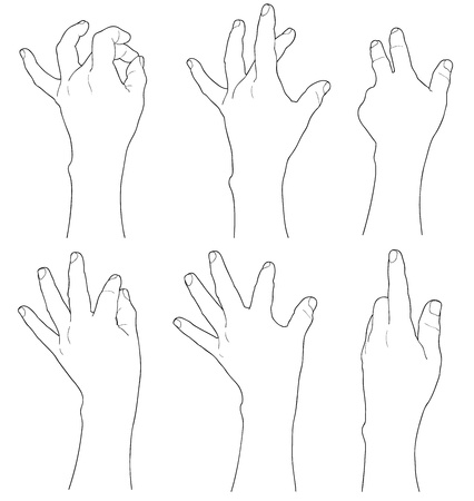 Touch screen gesture Vector