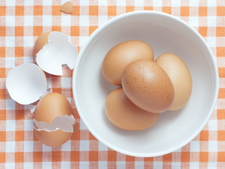 Eggs in a bowl  Stock Photo