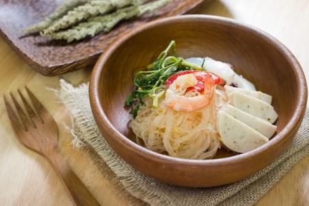 vermicelli: Glass Noodle Pork Nut Spicy Salad (Yum Woon Sen)