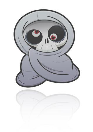 bugaboo: Ghost in cultura thailandese, Cartoon illustrazione di un fantasma