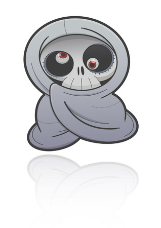 wraith: Ghost in Thai culture, Cartoon illustration of a ghost