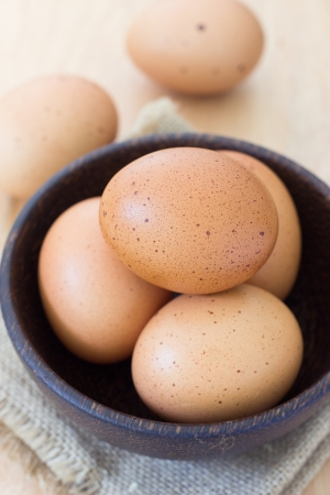 Eggs in a bowl. Stock Photo - 23073187