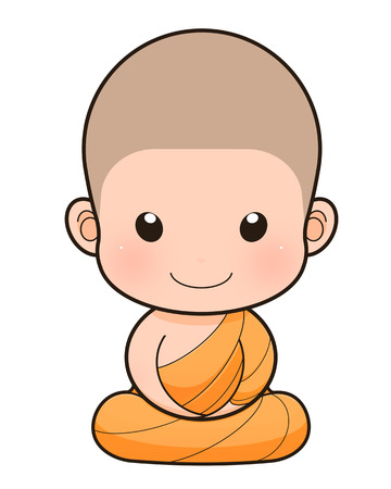 cleric: Buddhist Monk cartoon, illustration
