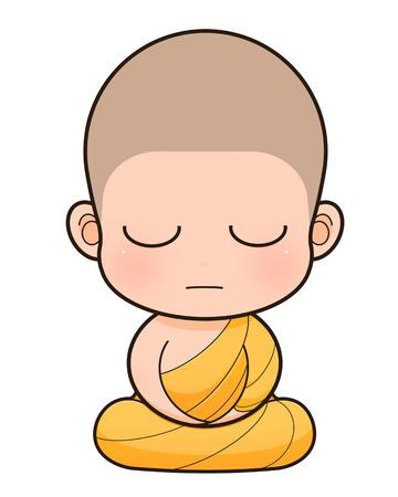 Buddhistischer Mönch cartoon, illustration Standard-Bild - 23739553