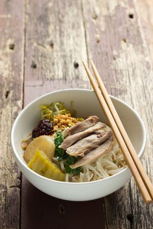 noodle soup: Chicken Noodle Soup Recipe Stock Photo