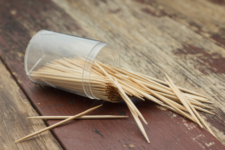 blanking: Wooden Toothpicks on wood background