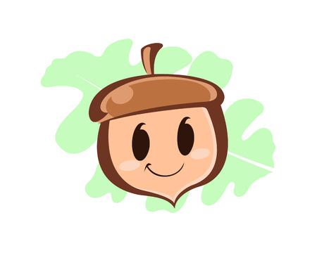 acorn seed: Acorn Cartoon illustration