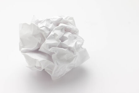 close-up of crumpled paper ball photo
