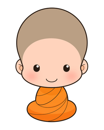 clergyman: Buddhist Monk cartoon, illustration
