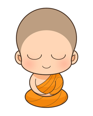 Buddhist Monk cartoon, illustration illustration