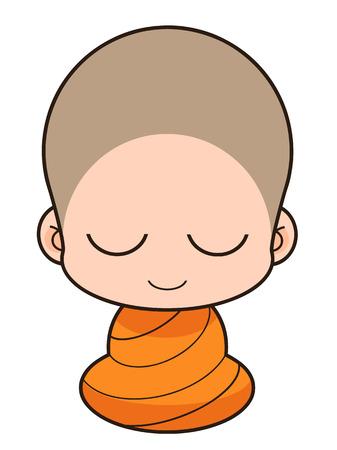 buddhist monk: Buddhist Monk Illustration